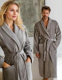 Velour Bathrobe Feeling with Shawl collar